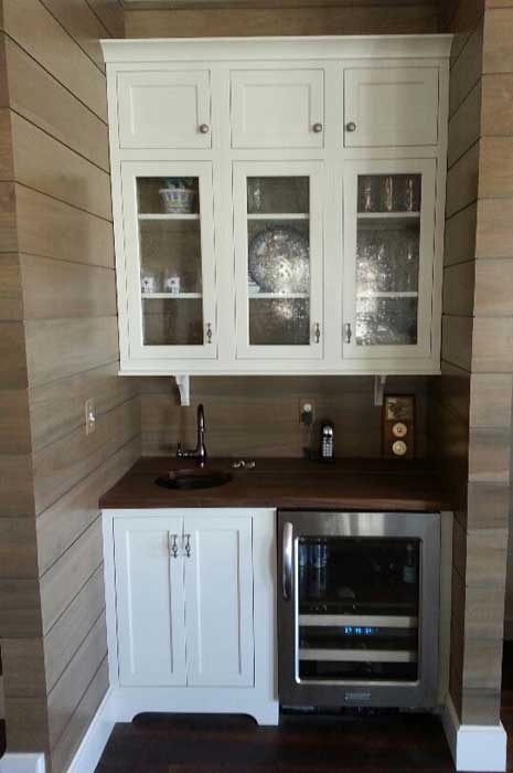 Laundry office wet bar heritage cabinet co for Office wet bar